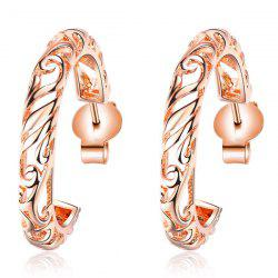 Round Hollow Out Earrings