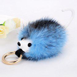 Hedgehog Fuzzy Ball Keychain - BLUE