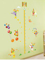 Kids Bedroom Removable Cartoon Clown Height Measurement Wall Stickers