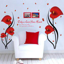 Calla Butterfly Removable Flower Giant Wall Stickers For Bedrooms