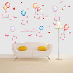 Balloon Photo Frame Removable PVC Giant Wall Stickers For Bedrooms