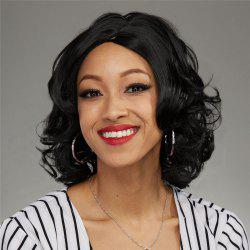 Faddish Short Side Parting Curly Heat Resistant Fiber Wig