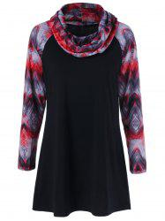 Printed Tunic Raglan Sleeves T-Shirt -