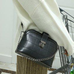 Push Lock Chains Cross Body Bag - BLACK