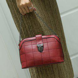 Push Lock Chains Cross Body Bag