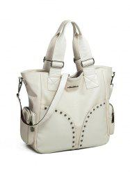 Faux Leather Studded Tote Bag