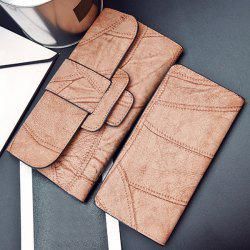Snap Closure Faux Leather Wallet