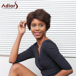 Adiors Short Shaggy Side Parting Straight Pixie Synthetic Wig