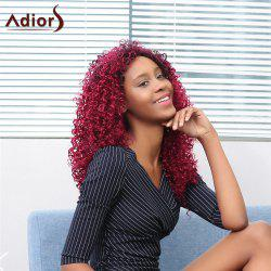 Adiors Long Side Bang Afro Curly Colormix Synthetic Wig