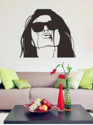 Abstract Decals Lady Figure Waterproof Removable Wall Stickers