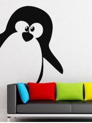 Cartoon Penguin Removable Wall Stickers For Kids Room - BLACK