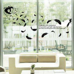DIY Feather Removable Window Showcase Wall Stickers
