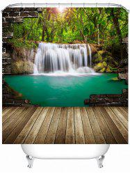Nature Landscape Waterproof Shower Curtain with Hooks - COLORMIX