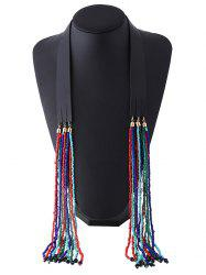 Ethnic Faux Leather Beads Necklace