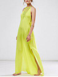 Chiffon Long Flowy Slit Prom Party Dress