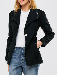 Panel Wool Blend Belted Coat