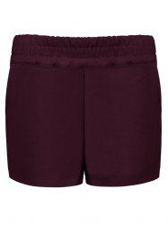 Elastic Waist Winter Shorts -
