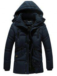 Hooded Zipper Design Padded Jacket