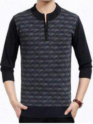 Patterned Half Zip Up Pull -