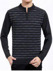 Patterned Half Zip Up Knitted Sweater
