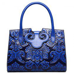 Faux Leather Embossed Handbag