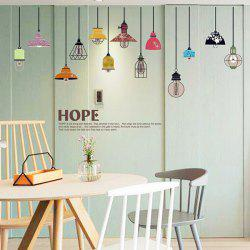 Colorful Pendant Lamp Removable Wall Stickers