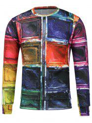 Crew Neck Paint Printed Sweatshirt