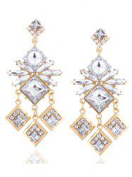 Rhinestone Square Drop Earrings