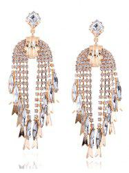 Water Drop Rhinestone Drop Earrings