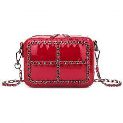 Patent Leather Chains Crossbody Bag