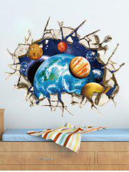 Wall Broken 3D Removable Ceiling Wall Stickers Planets - COLORMIX