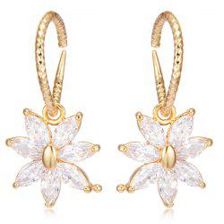 Rhinestoned Floral Drop Earrings
