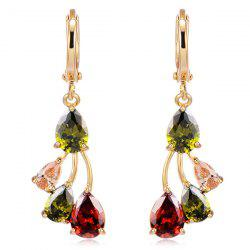 Water Drop Rhinestoned Earrings - COLORMIX