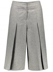 Wool Blend Capri Wide Leg Scrub Pants