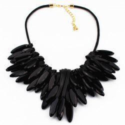 Artificial Leather Natural Stone Necklace