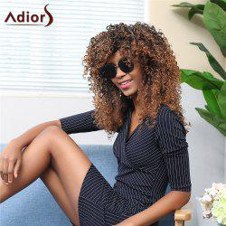 Adiors Long Side Bang Colormix Afro Curly Synthetic Wig