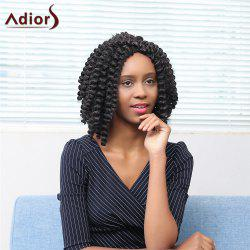 Adiors Middle Parting Short Afro Curly Synthetic Wig