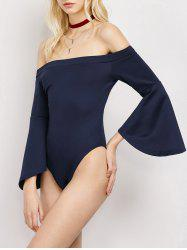 Off The Shoulder Bell Sleeve Bodysuit