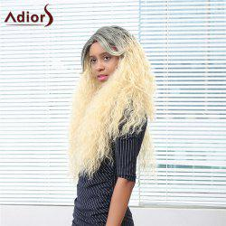 Adiors Ultra Long Shaggy Afro Curly Side Bang Colormix Synthetic Wig