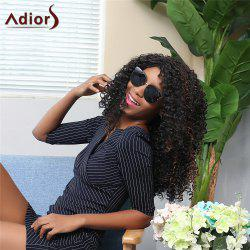 Adiors Long Side Parting Shaggy Afro Curly Synthetic Wig