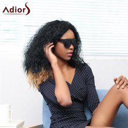 Adiors Long Side Parting Shaggy Curly Double Color Synthetic Wig
