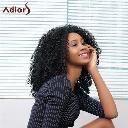 Adiors Medium Side Parting Shaggy Afro Curly Synthetic Wig