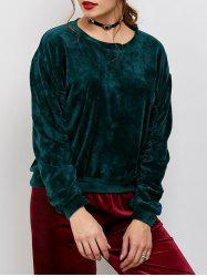Velvet Oversized Casual Sweatshirt