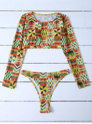 Cropped High Cut Rashguard Bikini