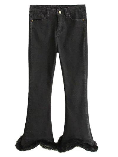 Fashion Fuzzy Ninth Flare Jeans