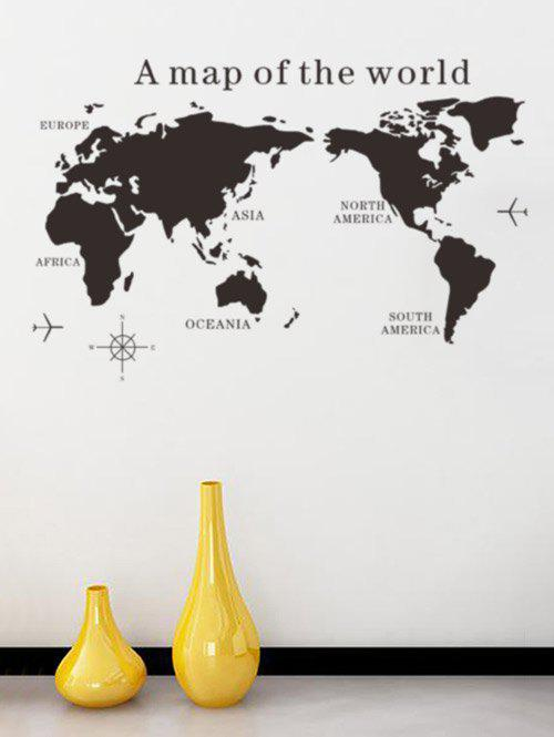 World Map Removable Wall Sticker.2019 World Map Removable Vinyl Decorative Wall Stickers Rosegal Com