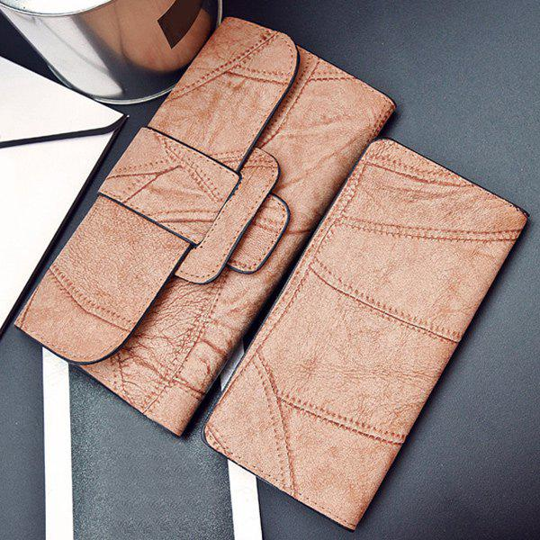 New Snap Closure Faux Leather Wallet