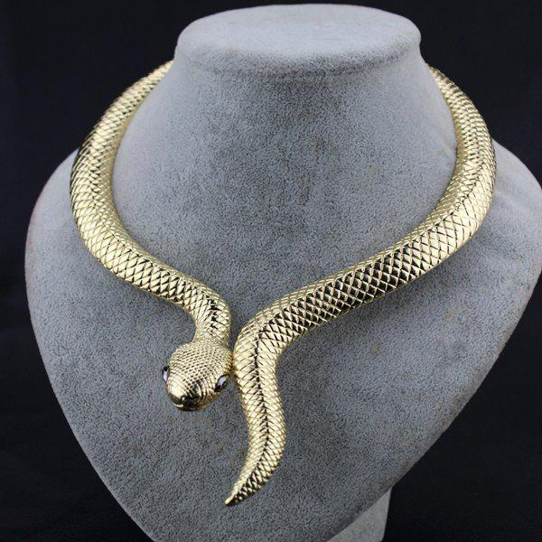 Vintage Alloy Snake NecklaceJEWELRY<br><br>Color: GOLDEN; Gender: For Women; Style: Trendy; Shape/Pattern: Animal; Weight: 0.080kg; Package Contents: 1 x Necklace;