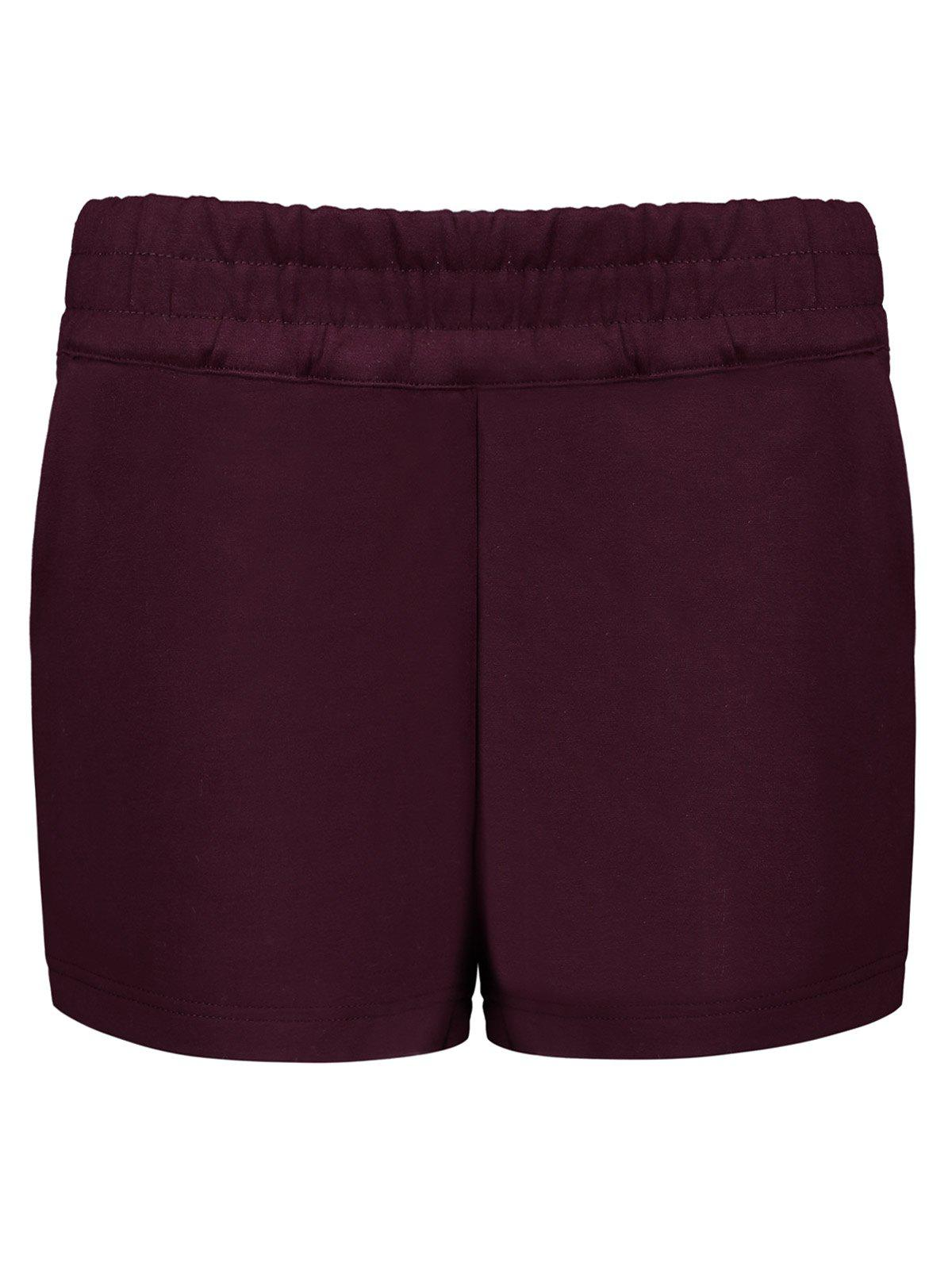 Hot Elastic Waist Winter Shorts