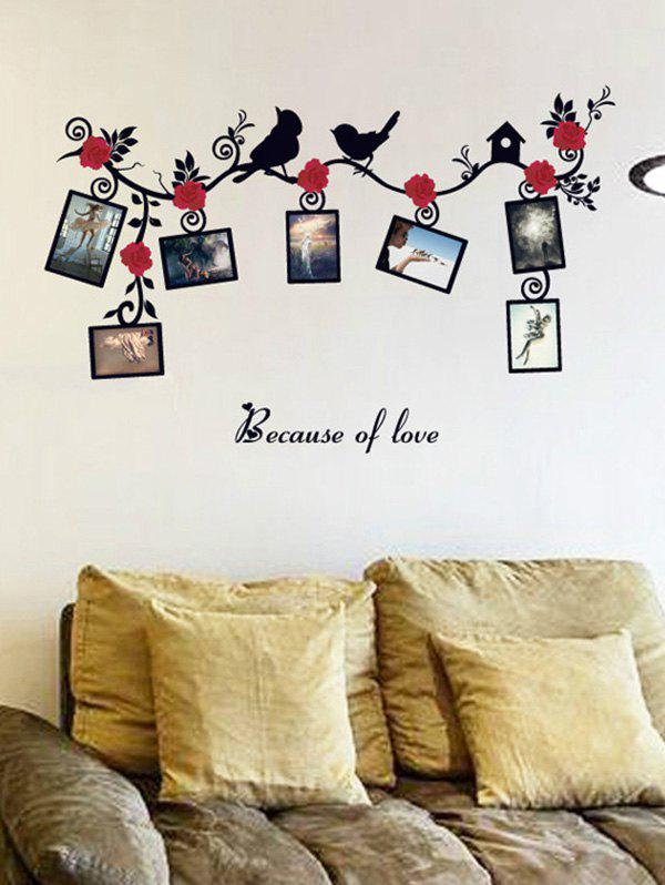 Photo Frame Removable Home Decals Wall StickersHOME<br><br>Color: COLORMIX; Wall Sticker Type: Plane Wall Stickers; Functions: Decorative Wall Stickers; Theme: Cartoon,Florals; Material: PVC; Feature: Removable; Size(L*W)(CM): 45*60; Weight: 0.324kg; Package Contents: 1 x Wall Stickers;